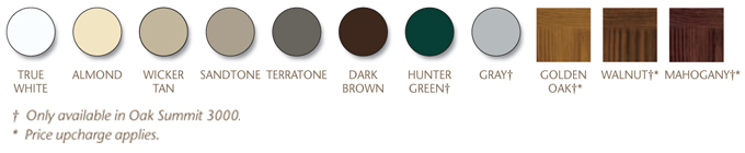 oak summit color options