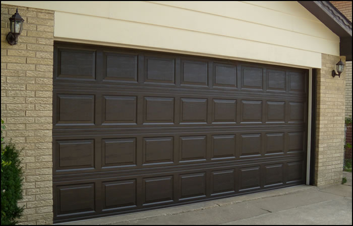 garage gallery planks dyer steel dark oak nontrad door doors s traditional non